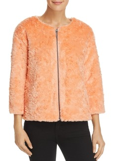 Kenneth Cole Cropped Faux-Fur Jacket