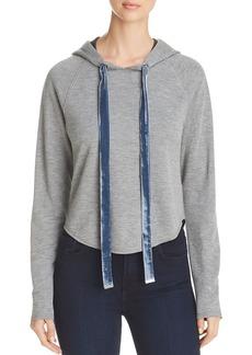 Kenneth Cole Cropped Hooded Sweatshirt