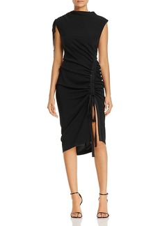 Kenneth Cole Curved Drawstring Dress
