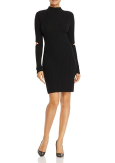 Kenneth Cole Cutout Rib-Knit Dress