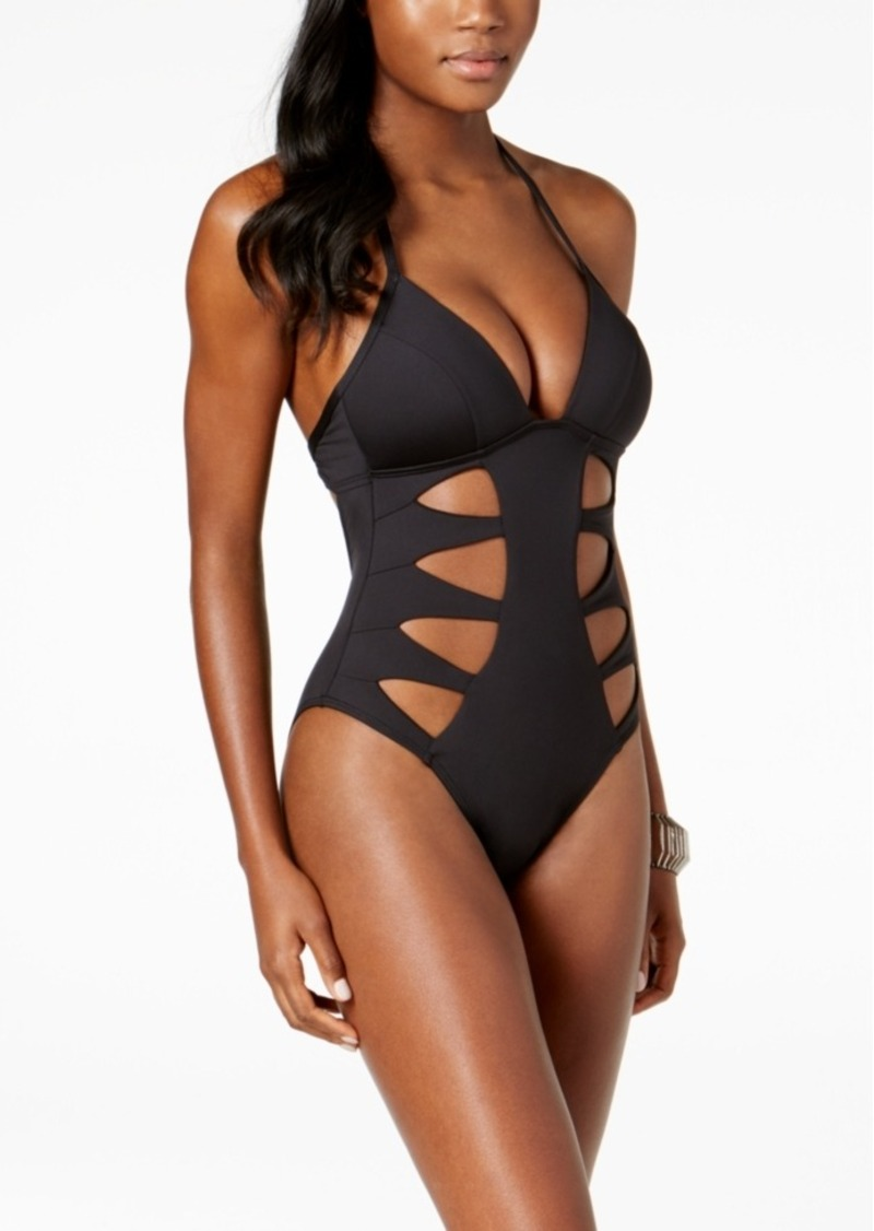 Kenneth Cole Cutout Tummy-Control Push-Up One-Piece Swimsuit Women's Swimsuit