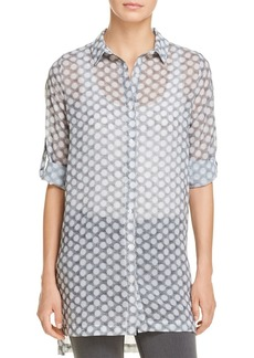 Kenneth Cole Dot Print Button-Down Tunic