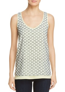Kenneth Cole Dot Print Layered Tank