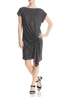 Kenneth Cole Draped Linen T-Shirt Dress