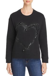 Kenneth Cole Embellished Piqu� Sweatshirt