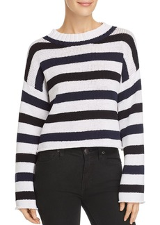 Kenneth Cole Embroidered Striped Sweater