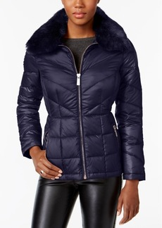 Kenneth Cole Faux-Fur-Collar Down Puffer Coat, A Macy's Exclusive