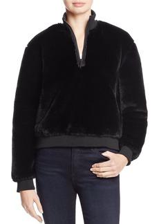 Kenneth Cole Faux Fur Sweatshirt