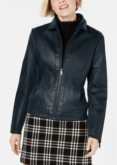 Kenneth Cole Faux-Leather Jacket