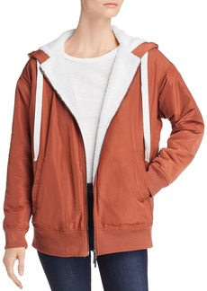 Kenneth Cole Faux Shearling-Lined Hoodie