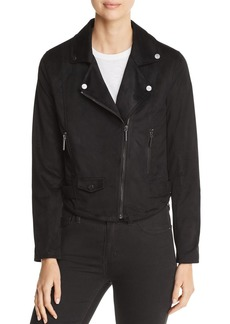 Kenneth Cole Faux-Suede Moto Jacket