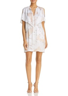 Kenneth Cole Floating Shapes Capelet Dress