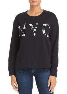 Kenneth Cole Floral Appliqu� NYC Sweatshirt