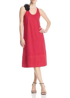 Kenneth Cole Fringe Flower Midi Dress
