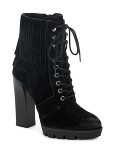 Kenneth Cole Fringe Suede Ankle Boots