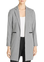 Kenneth Cole Houndstooth Long Open-Front Blazer