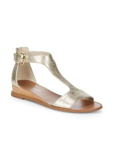 Kenneth Cole Jaddice Metallic Leather Sandals