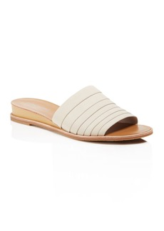 Kenneth Cole Janie Leather Demi Wedge Slide Sandals
