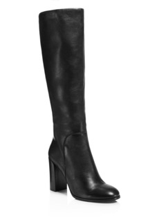 Kenneth Cole Justin Leather High Heel Knee Boots