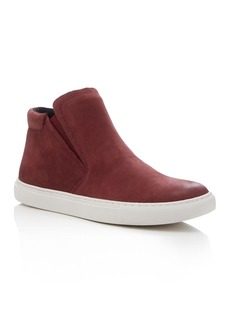 Kenneth Cole Kalvin Nubuck Leather Slip-On High Top Sneakers