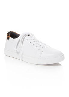 Kenneth Cole Kam Lace Up Sneakers with Leopard Print Calf Hair