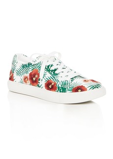 Kenneth Cole Kam Palm Print Lace Up Sneakers