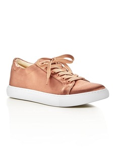 Kenneth Cole Kam Satin Lace Up Sneakers