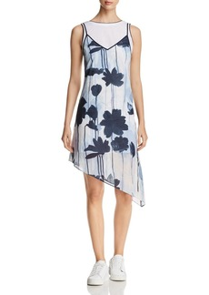 Kenneth Cole Layered Asymmetric Slip Dress