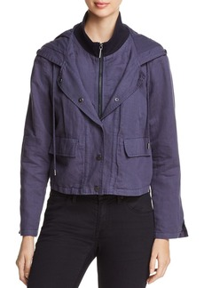 Kenneth Cole Layered-Look Cropped Jacket
