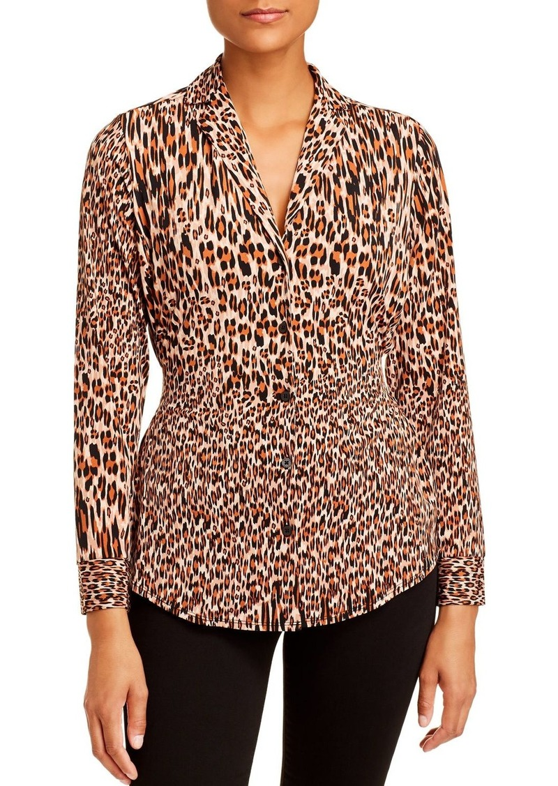 Kenneth Cole Leopard-Print Blouse