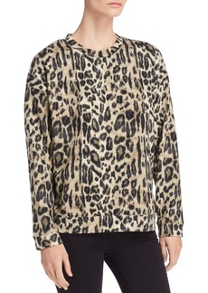 Kenneth Cole Lightweight Leopard-Print Sweatshirt