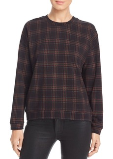 Kenneth Cole Lightweight Plaid Sweatshirt