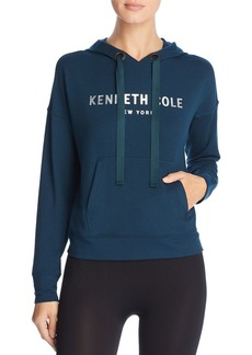 Kenneth Cole Logo Cropped Hoodie