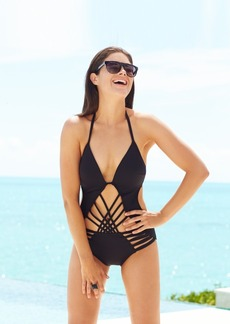 Kenneth Cole Macrame Push-Up One Piece Swimsuit Women's Swimsuit