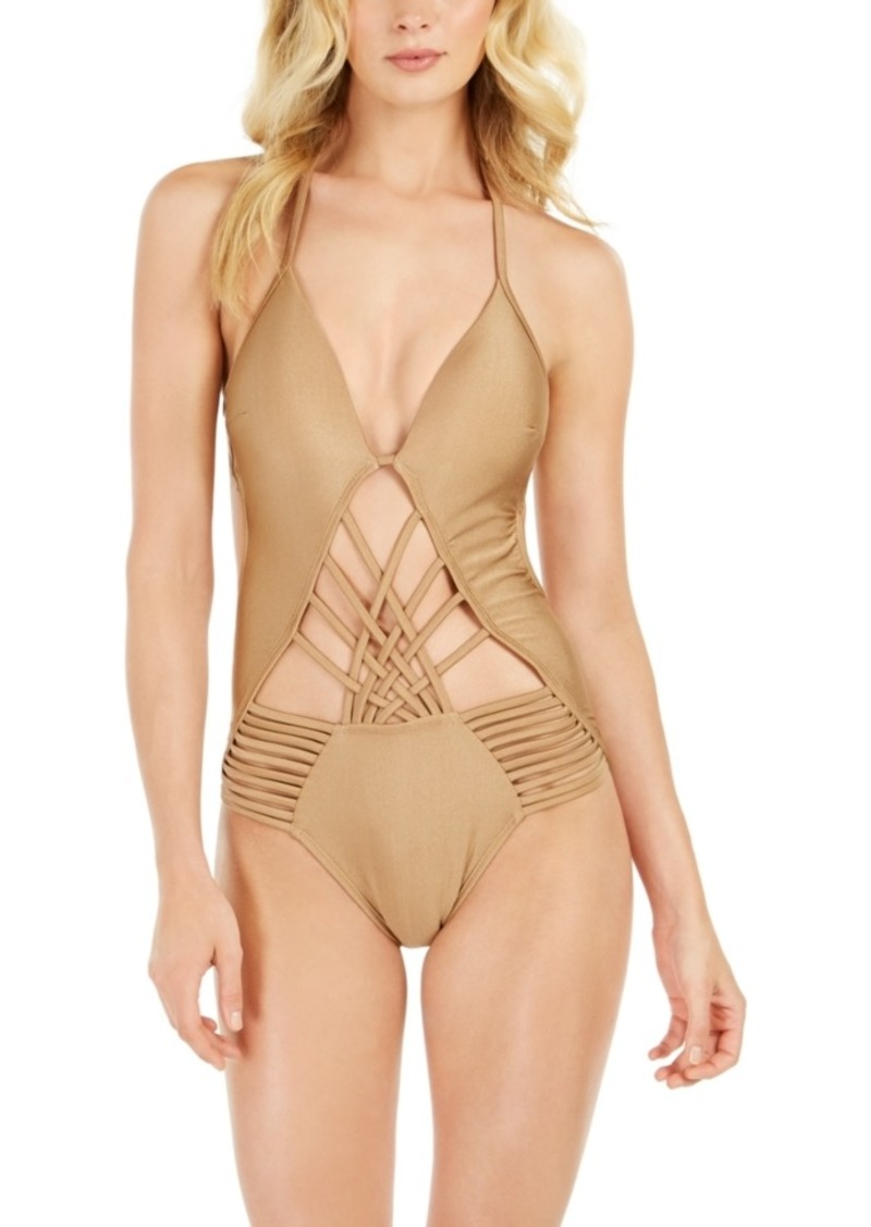 Kenneth Cole Macrame Push-Up One-Piece Swimsuit Women's Swimsuit