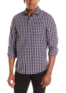 Kenneth Cole Men's 1 Pocket with Besom Shirt