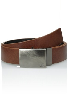 Kenneth Cole REACTION Men's 1 1/4 in. Reversible Plaque Belt With Textured Strap