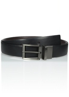 Kenneth Cole REACTION Men's 1 3/8 in. Calf Grained Reversible Big and Tall Belt Black/Brown