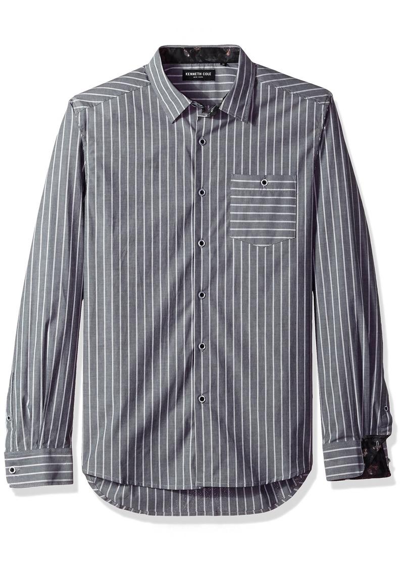 Kenneth Cole Men's Bold Stripe Shirt