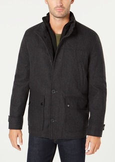 Kenneth Cole Men's Button-Down Wool Coat