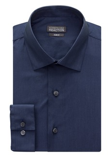 "Kenneth Cole Men's Chambray Slim Fit Solid Spread Collar Dress Shirt Blue 16"" Neck 32""-33"" Sleeve"