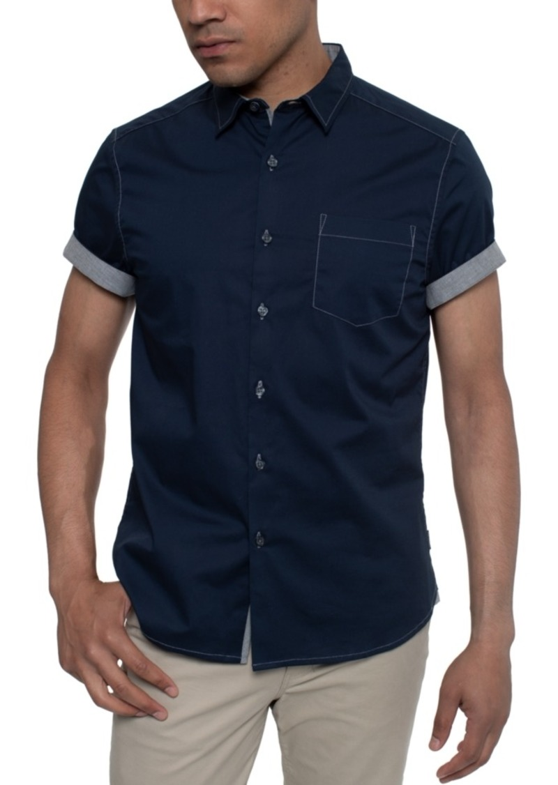 Kenneth Cole Men's Contrast Top-Stitch Shirt