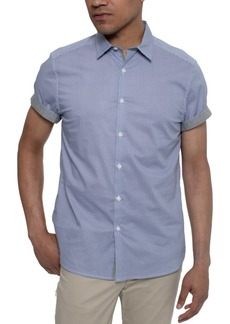 Kenneth Cole Men's Geometric-Print Shirt