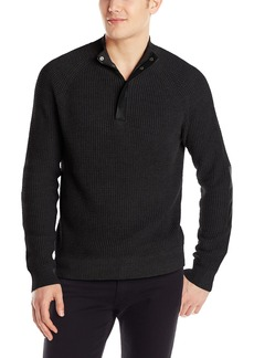 Kenneth Cole Men's Half Zip Sweater with Coating  Small