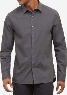 Kenneth Cole Men's Heathered Snap-Front Shirt