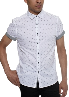 Kenneth Cole Men's Lightning Bolt Pattern Shirt