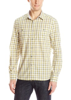 Kenneth Cole Men's Long Sleeve 2 Pocket Ombre Plaid Shirt