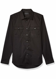 Kenneth Cole Men's Long Sleeve Button Up Two Pocket Mobility Shirt
