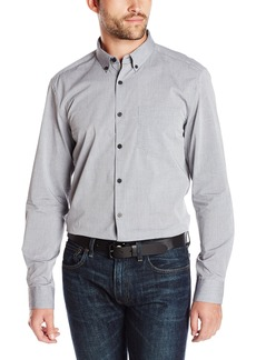 Kenneth Cole New York Men's Long Sleeve Dobby Shirt
