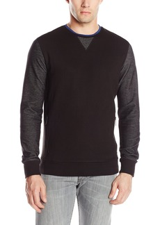 Kenneth Cole Men's Long Sleeve Herringbne Crew